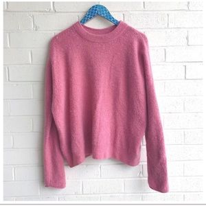Point Sur Button Back Waffled Soft Yarn Sweater